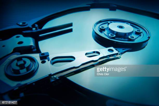 Interior of hard disc drive