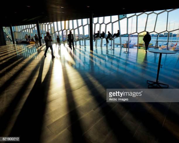Interior of Harpa Concert Hall and Conference Center, Reykjavik, Iceland