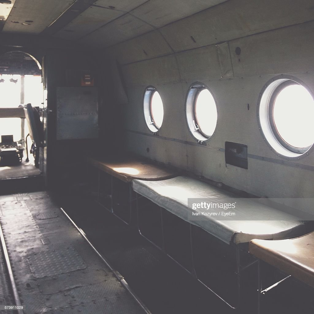 Interior Of Helicopter : Foto de stock