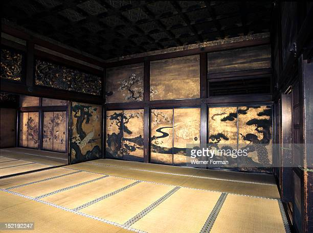 Interior of Himeji Castle, First constructed by the Akamatsu warrior family in the 14th century, the castle was later controlled by Hideyoshi and the...