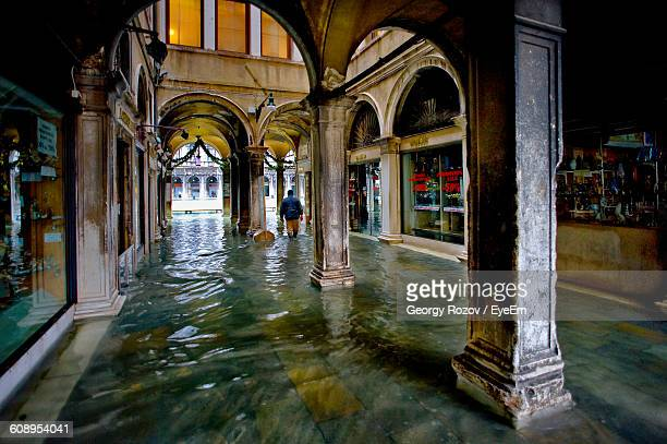 Interior Of Historic Building During Flood At St Marks Square