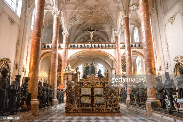 Interior of Hofkirche (Court Church), Innsbruck, Austria