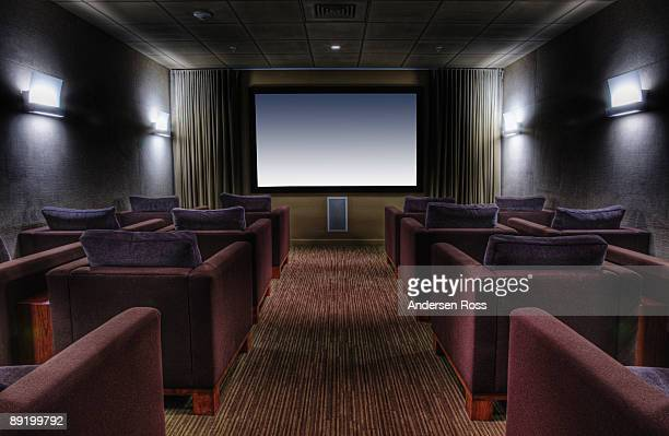 interior of home theater - entertainment center stock pictures, royalty-free photos & images