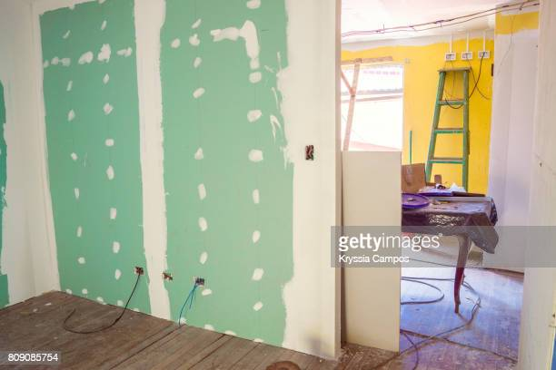 interior of home under construction - undone stock pictures, royalty-free photos & images