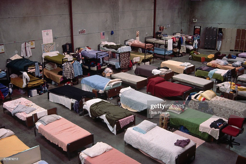 Interior of Homeless Shelter : Stock Photo