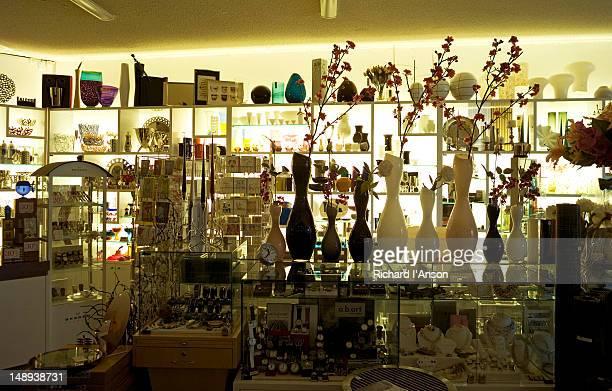 Interior of homewares shop.