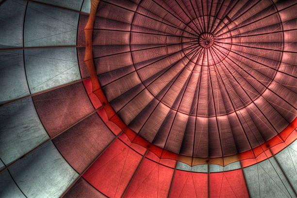 Interior of hot air balloon
