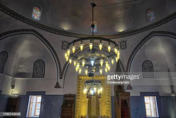 interior of husrev pasha mosque,van - emreturanphoto stock pictures, royalty-free photos & images