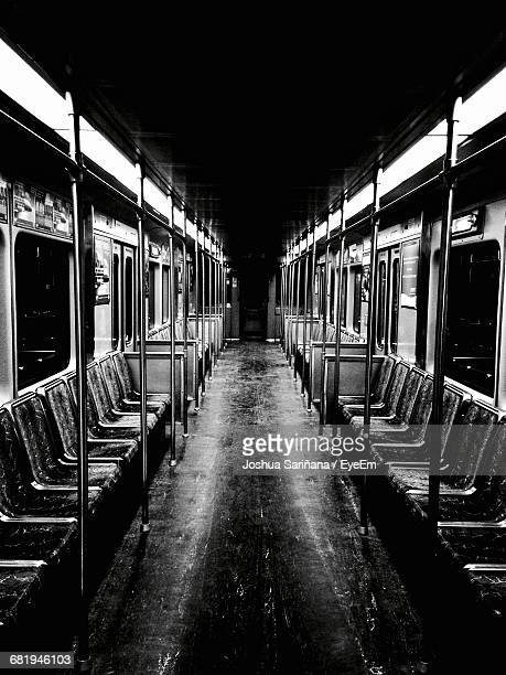 Interior Of Illuminated Empty Train