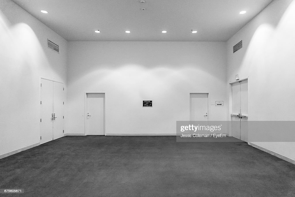 Interior Of Illuminated Empty Warehouse : Stock Photo