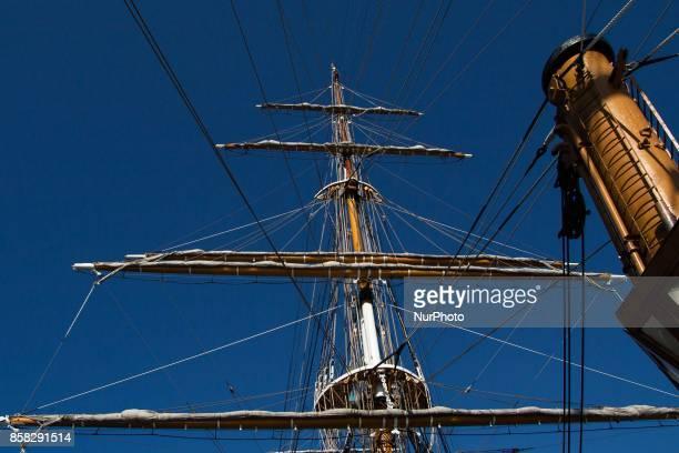 Interior of Italian navy's ship Amerigo Vespucci is to Naples Italy October on 062017
