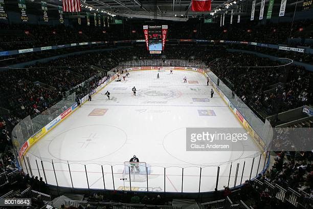 Interior of John Labatt Centre during 1st period of game between the Sault SteMarie Greyhounds and the London Knights on February 24 2008 in London...
