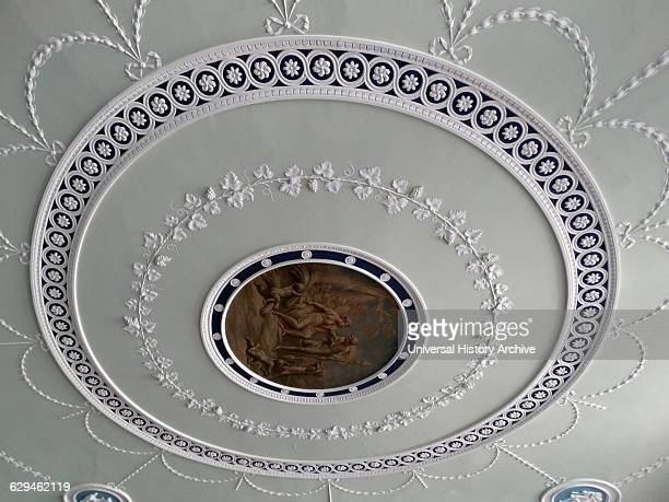 Interior of Kenwood House. The original house dates from the early 17th Century and was then called Caen Wood House. Originally designed by Humphry...