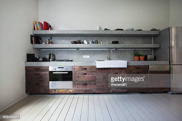 interior of kitchen - privatküche stock-fotos und bilder