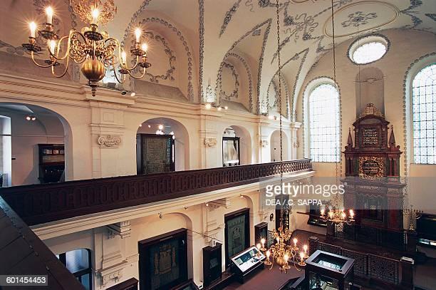 Interior of Klausen synagogue Jewish quarter , historical centre of Prague , Czech Republic.