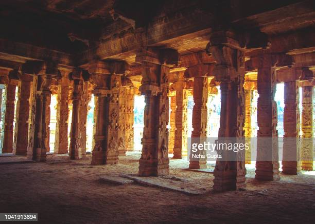 interior of krishna temple, hampi, india - karnataka stock pictures, royalty-free photos & images