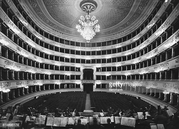 Interior of La Scala before a performance