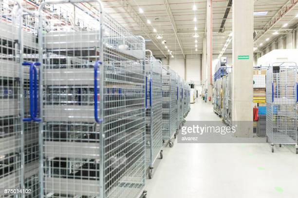interior of large warehouse - industrial storage bins stock pictures, royalty-free photos & images