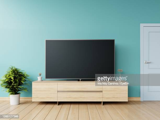interior of living room - flat screen stock pictures, royalty-free photos & images