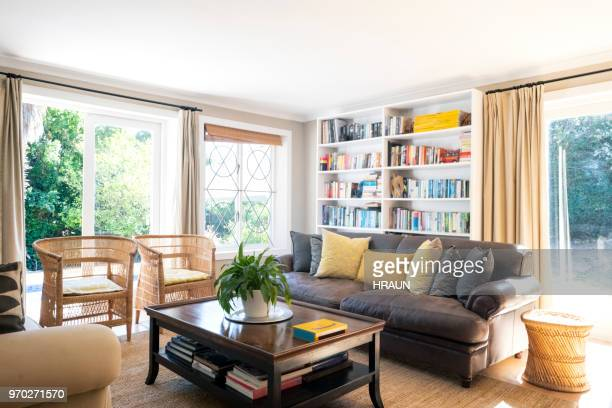 interior of living room - cosy stock pictures, royalty-free photos & images