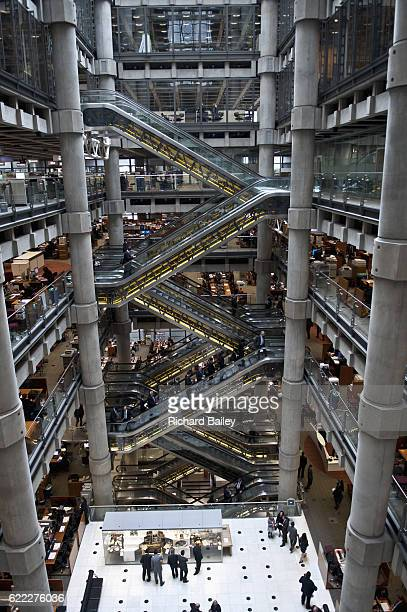 Interior of Lloyds headquarters, London, UK