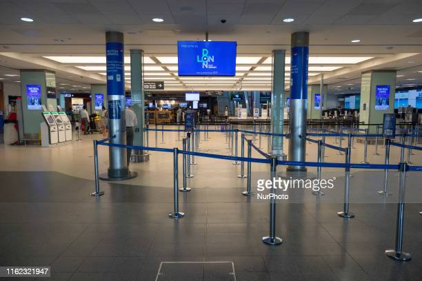 Interior of London City Airport LCY EGLC, located in the Royal Docks in Borough of Newham, Silvertown near the City of London and Canary Wharf in...