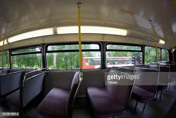 Interior of London Double-Decker Bus
