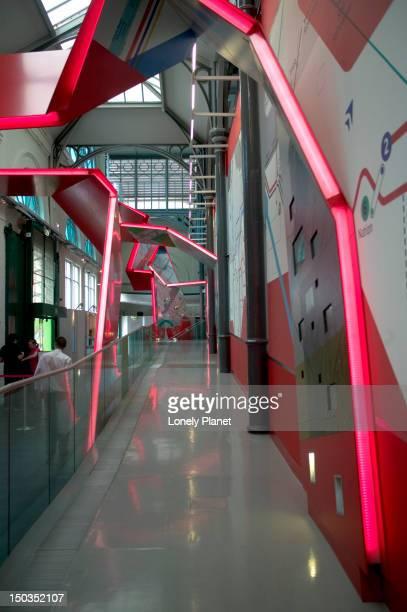 Interior of London Transport Museum.
