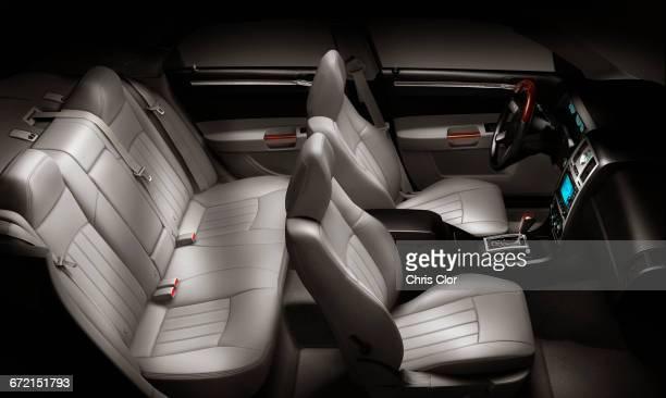Interior of luxury sedan