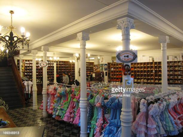 Interior of Maty Store one of Madrid's traditional stores engaged in the manufacture and sale of costumes dancing and costumes for regional Spain