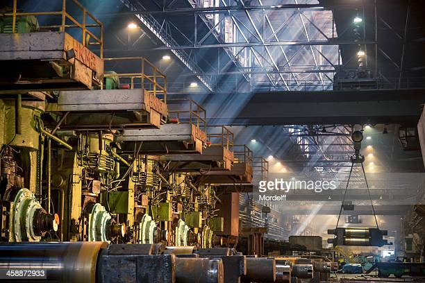 Interior of metallurgical plant worksh, steel mill, Russia