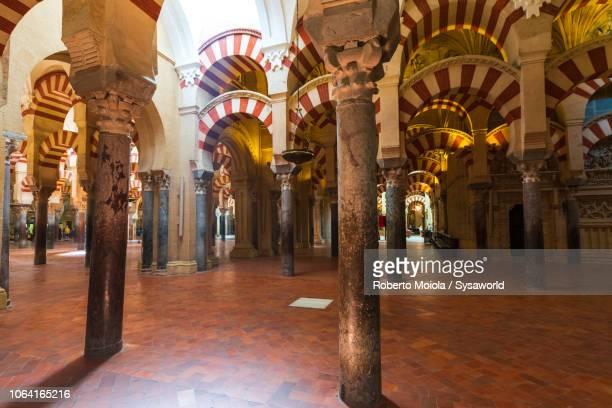 interior of mezquita-catedral, cordoba - スペイン コルドバ市 ストックフォトと画像