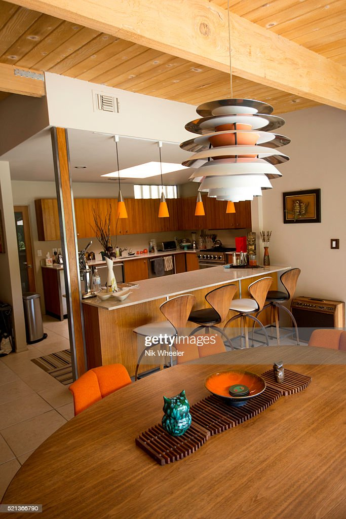 Interior Of Mid Century Modern Home In Palm Springs California Stock ...