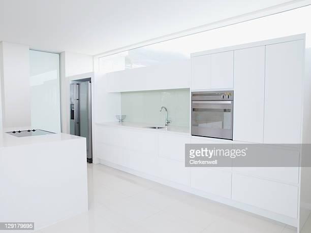 Interior of modern domestic kitchen