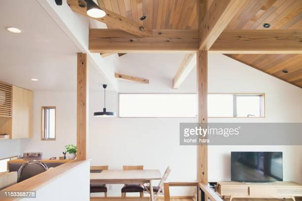 モダンハウスのインテリア - 室内装飾 ストックフォトと画像
