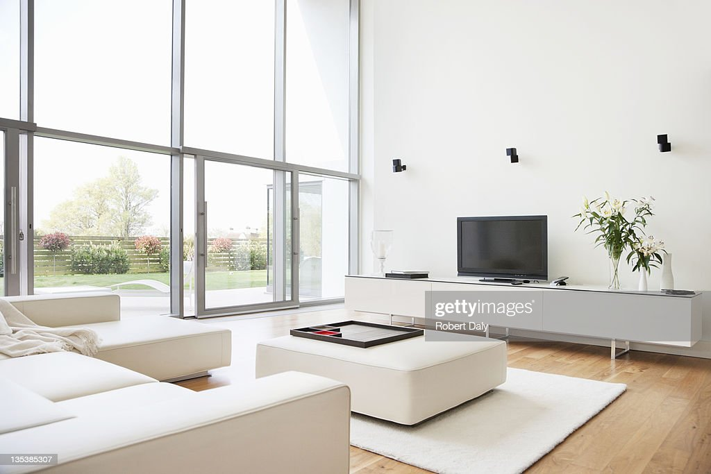 Interior of modern living room : Stock Photo