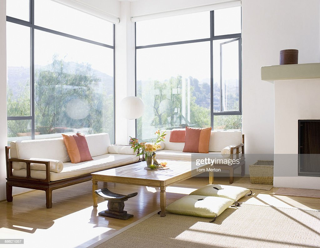 Interior of modern living room : Stock Photo