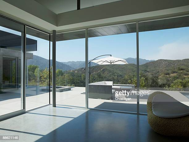 interior of modern living room - calabasas stock photos and pictures