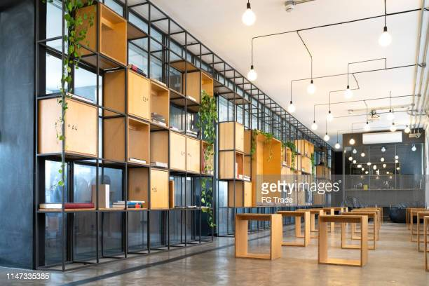 interior of modern office empty - hotel lobby stock pictures, royalty-free photos & images