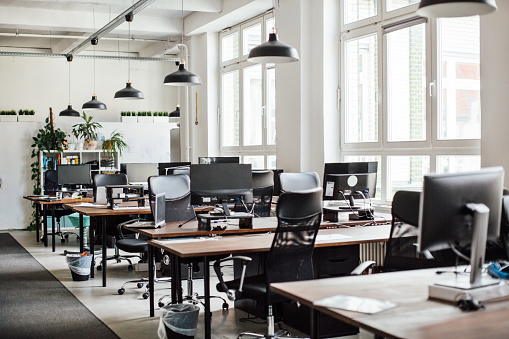 Interior of modern office 973712582