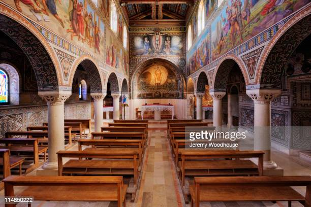 interior of monastery - jeremy woodhouse stock pictures, royalty-free photos & images