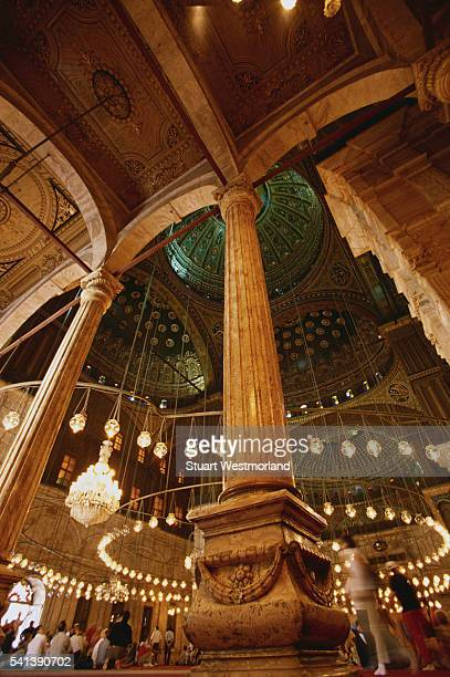 interior of muhammed ali mosque - alabaster mosque stock pictures, royalty-free photos & images