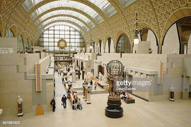 interior of musee d'orsay - musee d'orsay stock pictures, royalty-free photos & images