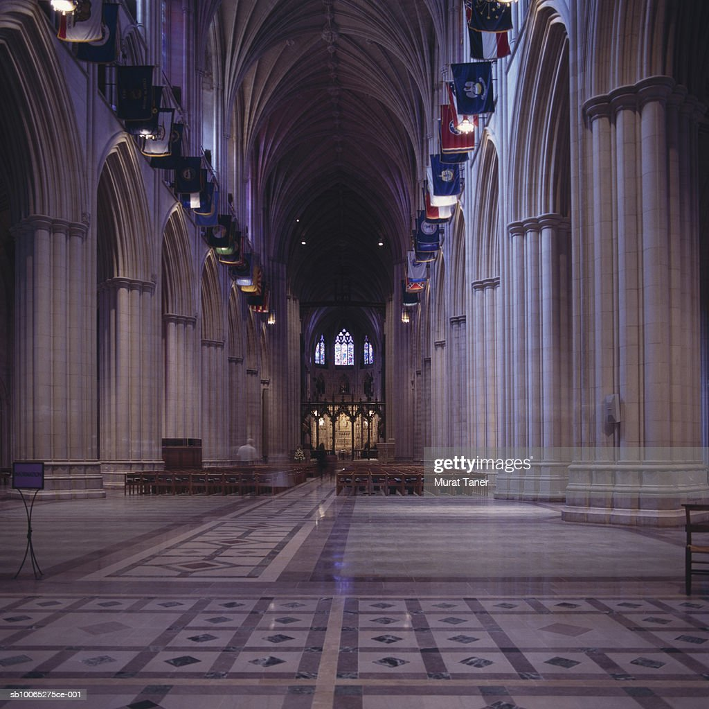 Interior of  National Cathedral : Foto stock