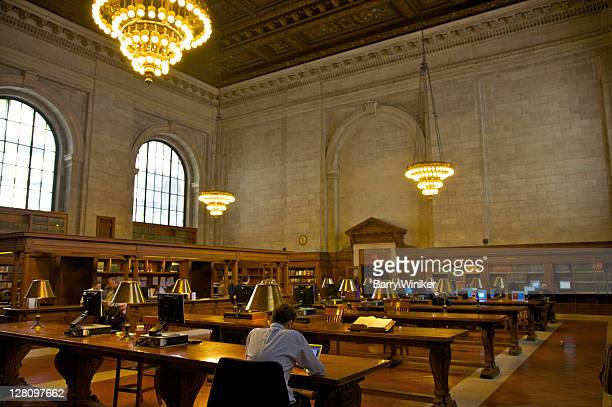 Interior of New York Public Library, Bill Blass Reading Room, New York