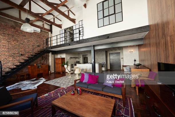 Interior of New York style loft, holiday rental apartment