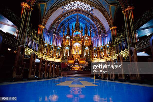 interior of notre dame basilica - faith rogers stock pictures, royalty-free photos & images