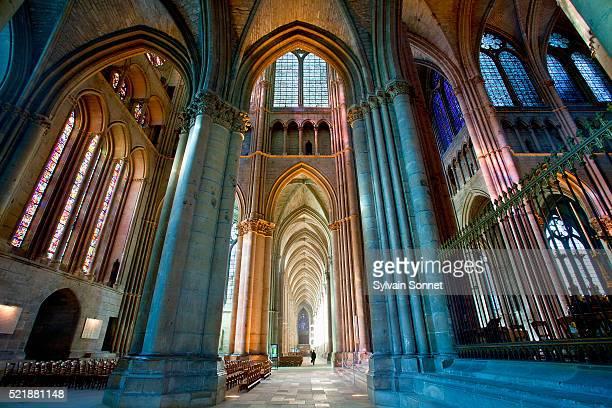 Interior of Notre-Dame de Reims