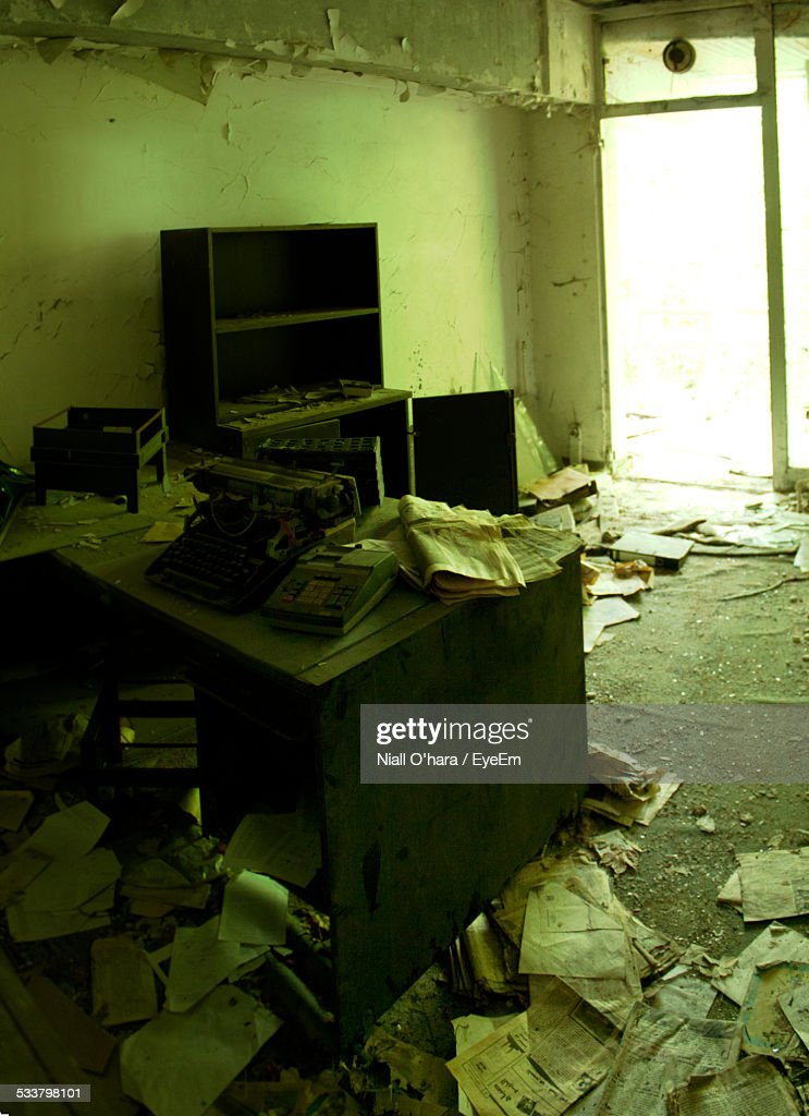 Interior Of Old Abandoned House : Foto stock