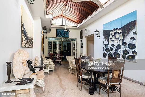 interior of old havana villa - painting art product stock pictures, royalty-free photos & images